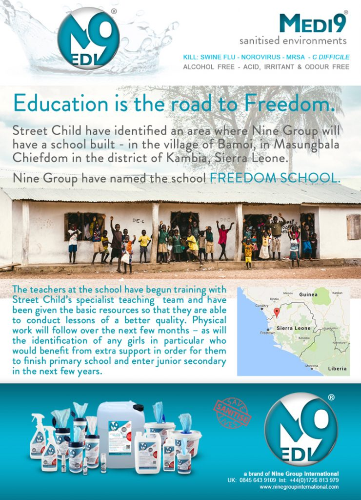 Education is the road to Freedom News - March 2017 medi 9 nine group international